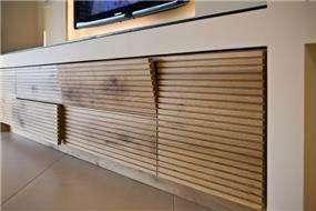 מזנון בדירה בפרויקט Sea&Sun, ת''א. עיצוב סטודיו פרטים