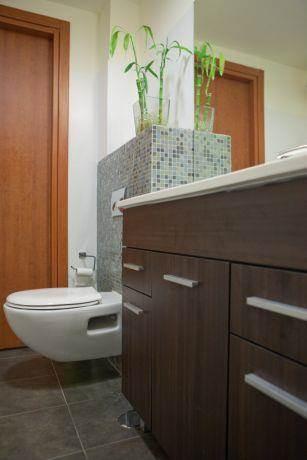 דירה במגדלי נתנאל, רמת אביב, ת''א. חדר אמבטיה - סטודיו פרטים. צילום: אבישי פינקלשטיין.