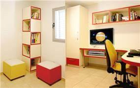 חדר עבודה בעיצוב סטודיו פרטים