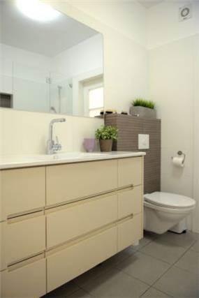 דירת קבלן ברחוב הברוש, נתניה. אמבטיה עיצובית, פרטים - סטודיו לעיצוב ואדריכלות