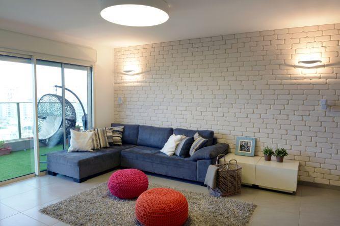 דירת קבלן ברחוב הברוש, נתניה. סלון מעוצב, פרטים - סטודיו לאדריכלות ועיצוב
