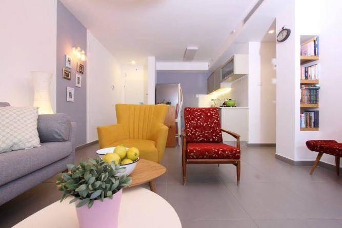 דירה ברחוב מרכולת, תל אביב. עיצוב סלון, פרטים-סטודיו לאדריכלות ולעיצוב
