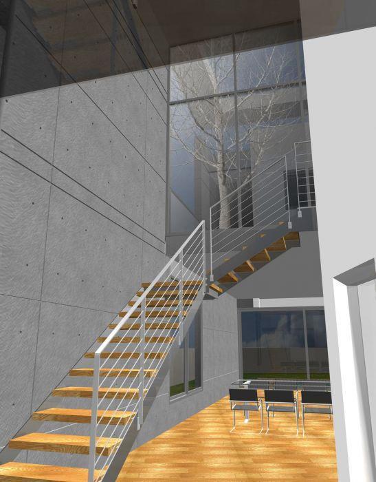 חדר מדרגות, בית פרטי, גאליה - דרור ברדה אדריכלים