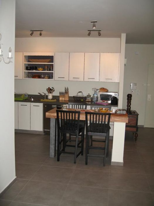 פינת אוכל ומטבח, דירה בצמרות הרצליה - ליאורה שורץ אדריכלות ועיצוב פנים