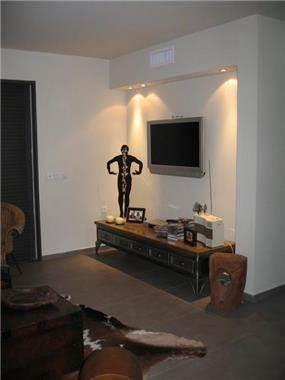 סלון, דירה בצמרות הרצליה - ליאורה שורץ אדריכלות ועיצוב פנים