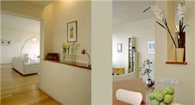 חלל מגורים - אורי רונן אדריכלות ועיצוב