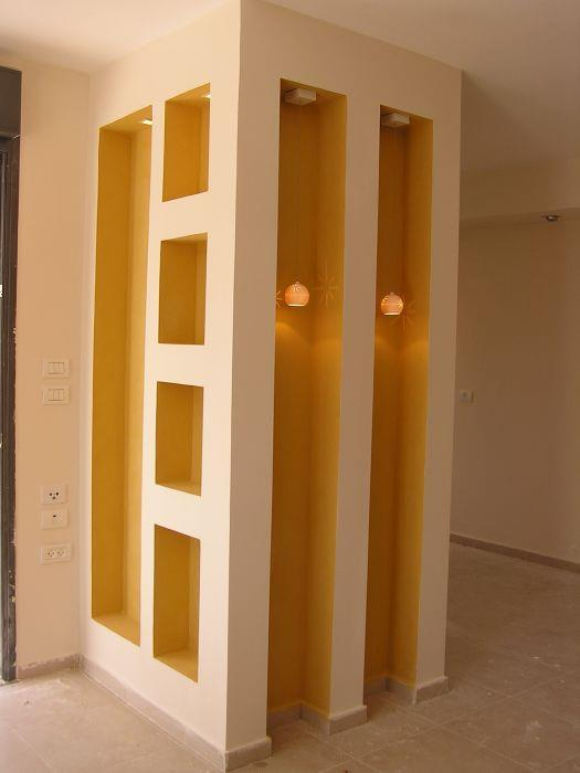 נישת גבס - מסתור למקרר מכוון הסלון