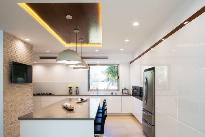 מטבח מודרני בעיצוב נקי, יוסי שאול YS-DESIGN