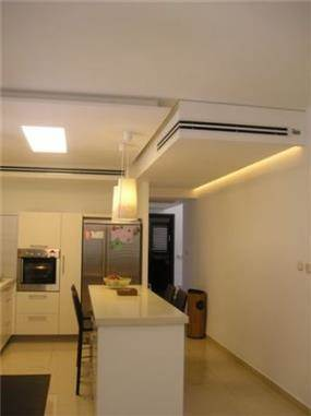 תכנון מיוחד למיזוג ולתאורה בתקרה, עיצוב יוסי שאול YS-DESIGN