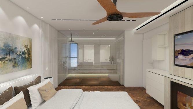 חדר שינה יוקרתי, יוסי שאול עיצוב ואדריכלות פנים