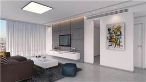 סלון בעיצוב מנימליסטי, יוסי שאול YS-DESIGN
