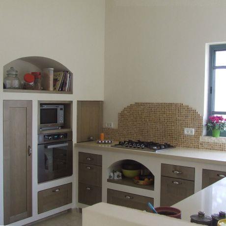 ארונות מטבח הבנויים בגבס, עיצוב ורד פולקמן