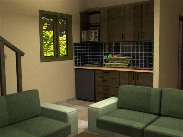 סלון ומטבח - אשכנזי אדריכלות ועיצוב