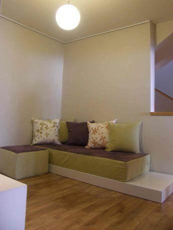 פינת ישיבה, בית פרטי, גני תקווה - תמי אורנשטין אדריכלים