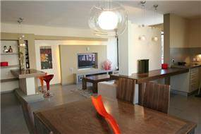 פינת אוכל וסלון, דירה, רעננה - תמי אורנשטין אדריכלים