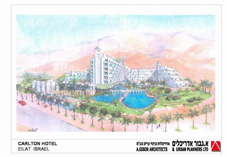 """מלון קרלטון אילת - א.גבור אדריכלים אדריכלות ובינוי ערים בע""""מ"""