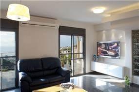 סלון בדירת פנטהאוז, אורלי הורוביץ עיצוב ותכנון פנים