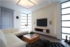 סלון בית בכרכור בסגנון עדכני של CG DESIGN - כרמית גורש עיצוב ואדריכלות פנים