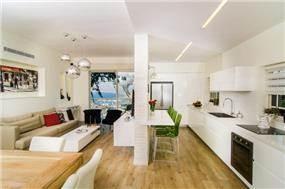 סלון ומטבח, איריס מרקו - עיצוב ואדריכלות פנים