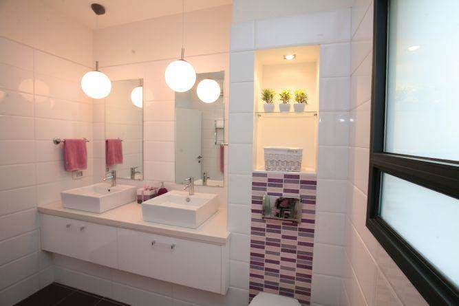 חדר אמבטיה זוגי, איריס מרקו - עיצוב ואדריכלות פנים