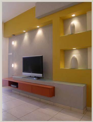 חדר טלויזיה - DETAILS תכנון אדריכלי עיצוב פנים וביצוע.