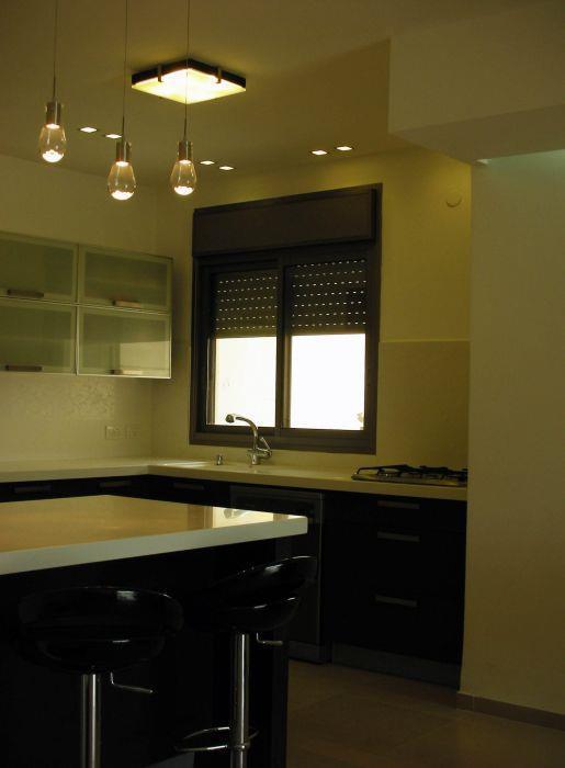 מטבח, דירה, כפר סבא - לירון מורן- אדריכלות פנים