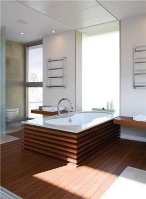 """חדר אמבטיה הורים, בית פרטי, רעננה - פיין ארק בע""""מ"""
