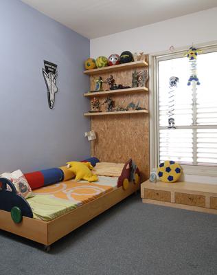 עיצוב חדר ילדים, שימוש בחומרים לא סטנדרטים לרהיטים