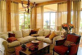 סלון חמים בבית פרטי ביישוב עדנים - רונית תירוש - אדריכלות ועיצוב פנים
