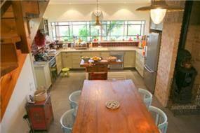 מטבח ופינת אוכל, בית פרטי, עמק חפר - רונית תירוש-אדריכלות ועיצוב פנים