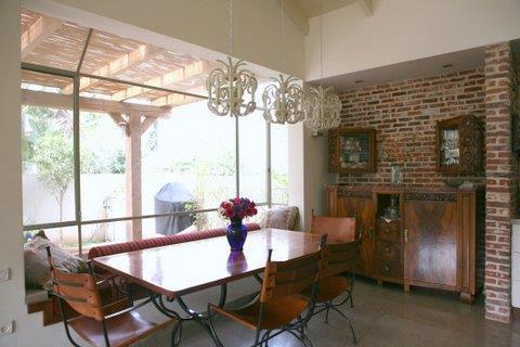 פינת אוכל, בית פרטי, רמת השרון - רונית תירוש-אדריכלות ועיצוב פנים