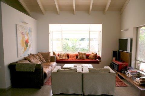 סלון, בית פרטי, רמת השרון - רונית תירוש-אדריכלות ועיצוב פנים