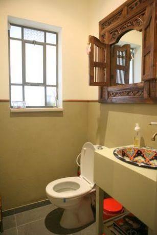 שירותי אורחים, בית פרטי, עמק חפר - רונית תירוש-אדריכלות ועיצוב פנים