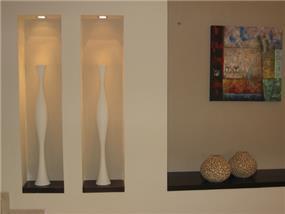 תאורה בנישות גבס - אלה אורן אדריכלות ועיצוב פנים