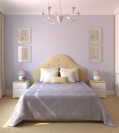 חדר שינה  בגווני סגול, עיצוב חלי שפירא