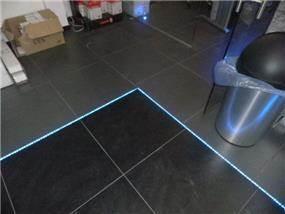 שילוב תאורת לד ברצפה