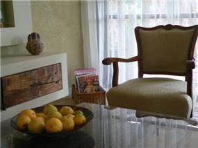 כורסא לאחר שדרוג, קיבלה מראה ביתי ונעים. רויטל רודצקי
