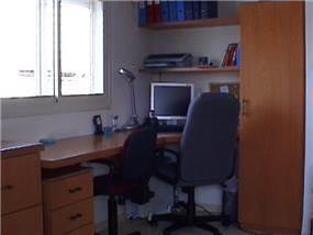 חדר עבודה - לאה מרזל- עיצוב פנים ויעוץ פאנג שוואי.