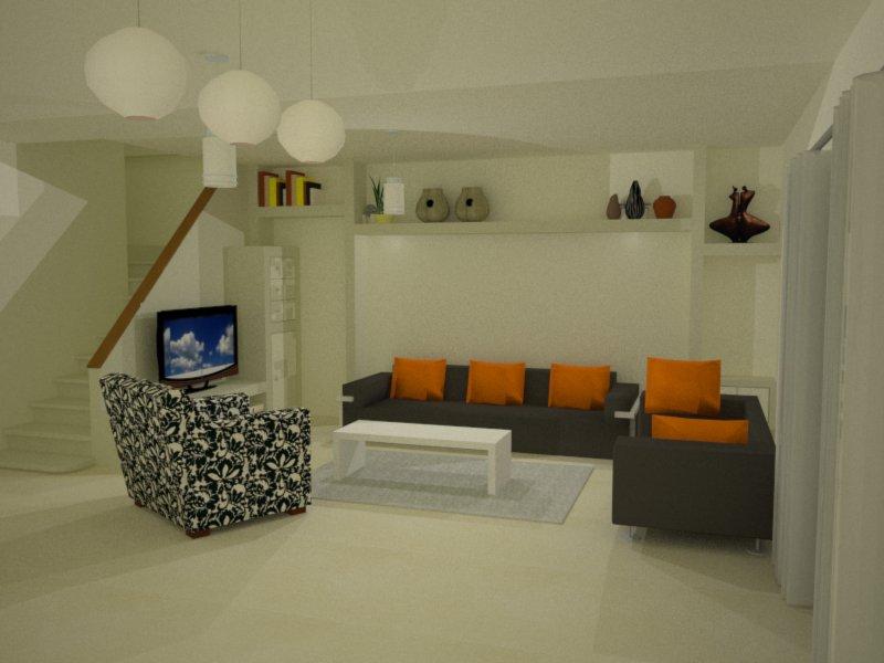 חדר מגורים - לילך שחף - אדריכלות ועיצוב פנים