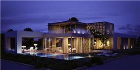בית פרטי -לילה, בתכנון רמה דותן וערן בינדרמן, דו אדריכלים