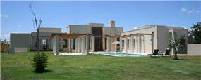 חזית אחורית של הבית במושב בית גמליאל