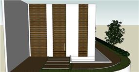 בית בסביון, חזית קדמית