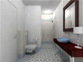 חדר אמבטיה בעיצוב רוית קשטן - ארצי