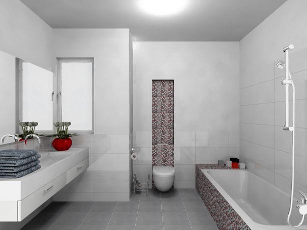 חדר רחצה בעיצוב מרשים הכולל אריחים דקורטיביים ויוקרתיים. רוית קשטן - ארצי אדריכלית