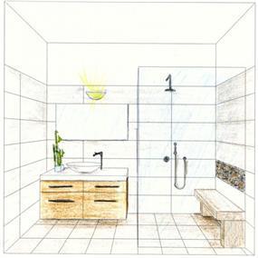 חדר רחצה - יעלה אקשטיין עיצוב פנים