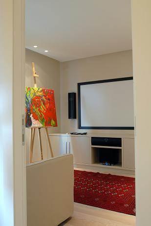 חדר טלויזיה - קרן אלבוים - עיצוב ואדריכלות פנים