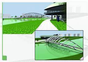 הצעה לגשר במרכז דניאל לחתירה - ארקא סטודיו