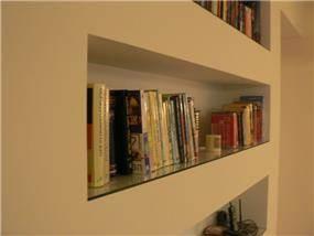 ספריה מגבס - מירה אזולאי עיצוב פנים ושרותי אדריכלות
