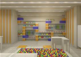 עיצוב מקסים וצבעוני לחנות בגדי ילדים. שלומית ומעין - עיצוב פנים