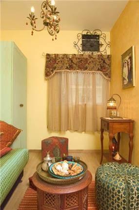 חדר אורחים בסגנון מרוקני